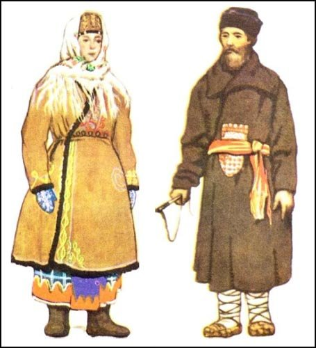 Мужской и женский костюмы для зимних поездок