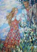 Славянские образы в картинах Ирины Антоновской.